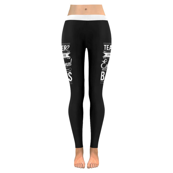 Teacher? I Prefer The Term Educational Badass Funny Appreciation Womens Leggings-NeatFind.net