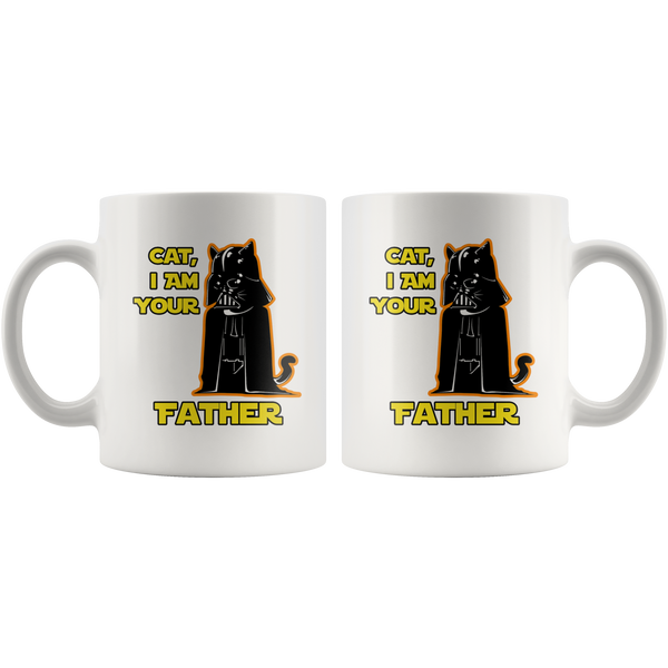 Cat I Am Your Father Funny White Coffee Mugs (11oz, 15oz)