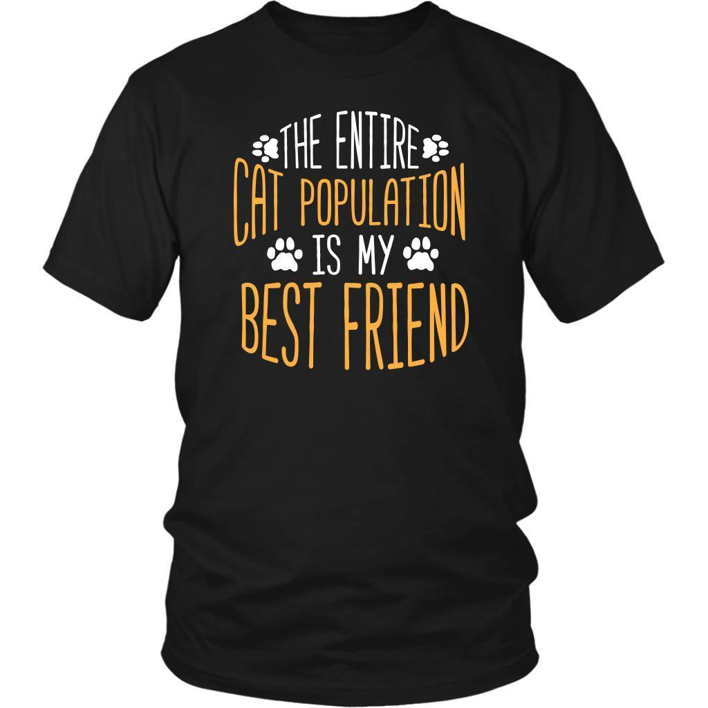 The Entire Cat Population Is My Best Friend Cute Funny Lovers Gift Ideas TShirt-NeatFind.net
