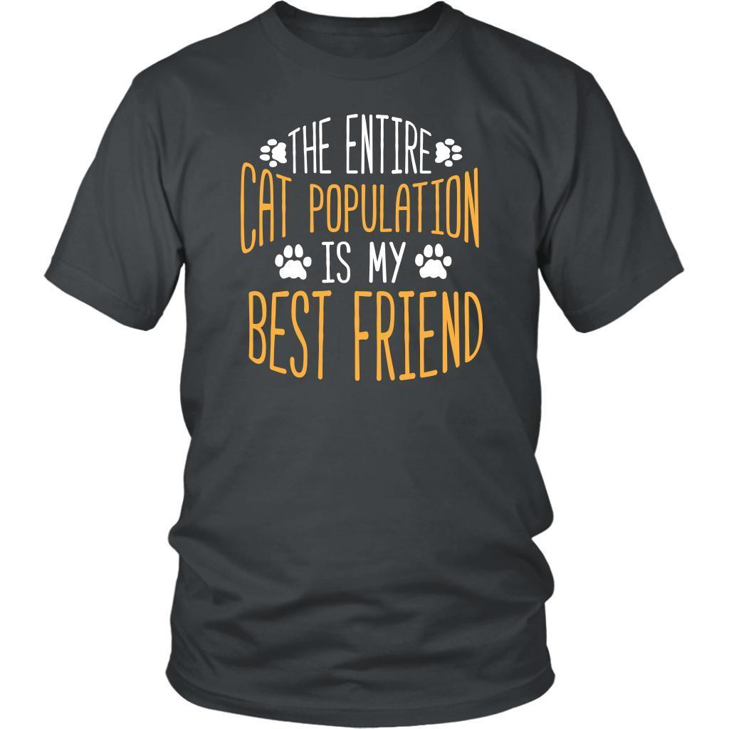 2a42abe6 ... The Entire Cat Population Is My Best Friend Cute Funny Lovers Gift  Ideas TShirt-NeatFind ...