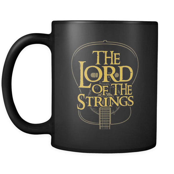 The Lord Of The Strings Cool Funny Guitarist Black 11oz Coffee Mug-NeatFind.net