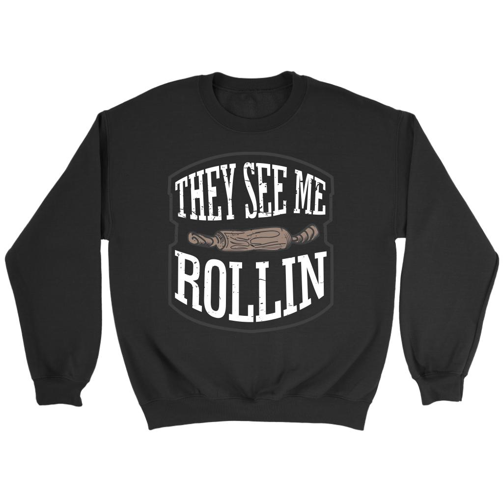 They See Me Rollin Funny Gift Ideas For Bakers Baking Super Soft & Comfy Sweater-NeatFind.net