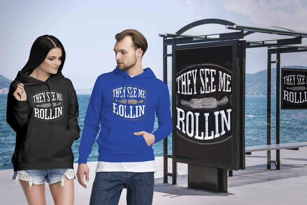 They See Me Rollin Funny Gifts Ideas For Bakers Baking Soft Comfy Unisex Hoodie-NeatFind.net