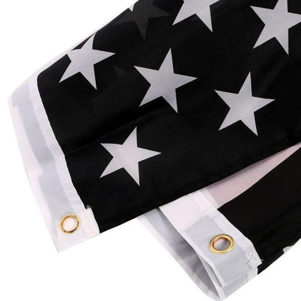 Thin Blue & Black Line USA American Flags - 3'FT x 5'FT Polyester Flag With Metal Grommets-NeatFind.net