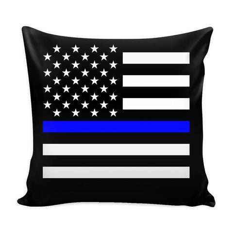Thin Blue Line Pillow Case-NeatFind.net