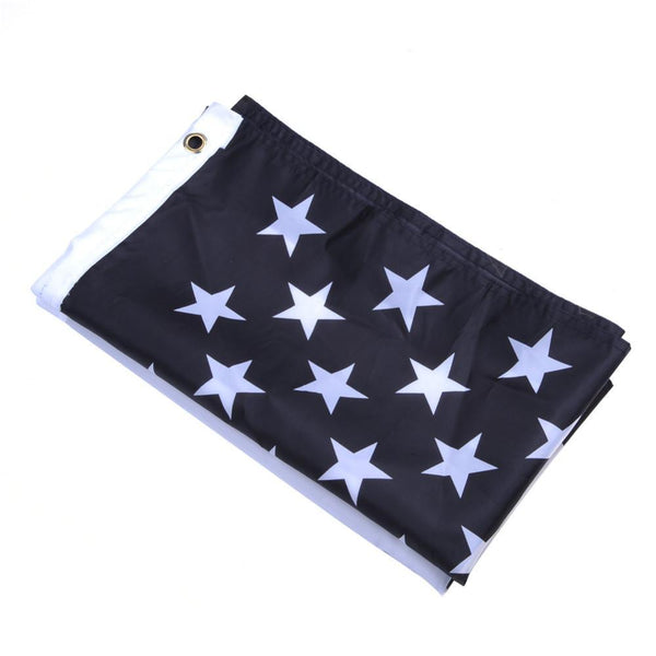 Thin Blue Line USA Flag Black, White And Blue Line Flag With Grommets 3' Ft X 5' Ft-NeatFind.net