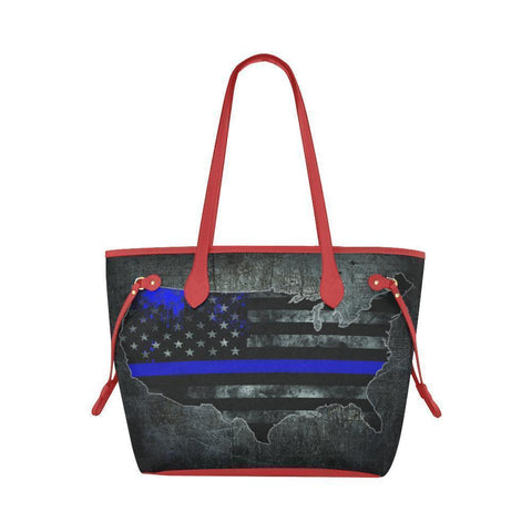 Thin Blue Line Water Resistant Canvas Tote Bags (4 colors)-NeatFind.net