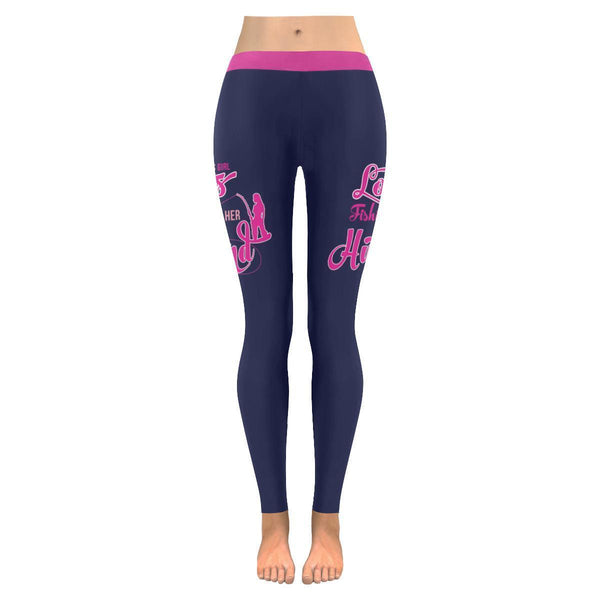 This Girl Loves Fishing With Her Husband V2 Low Rise Leggings For Women (3 colors)-NeatFind.net