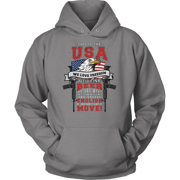 This Is The USA We Love Freedom America 2nd Amendment Patriotic T-Shirt For Men & Women-NeatFind.net