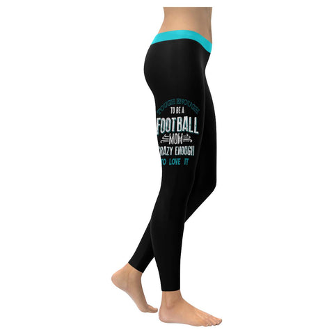Tough Enough To Be A Football Mom Crazy Enough To Love It Gift Womens Leggings-NeatFind.net