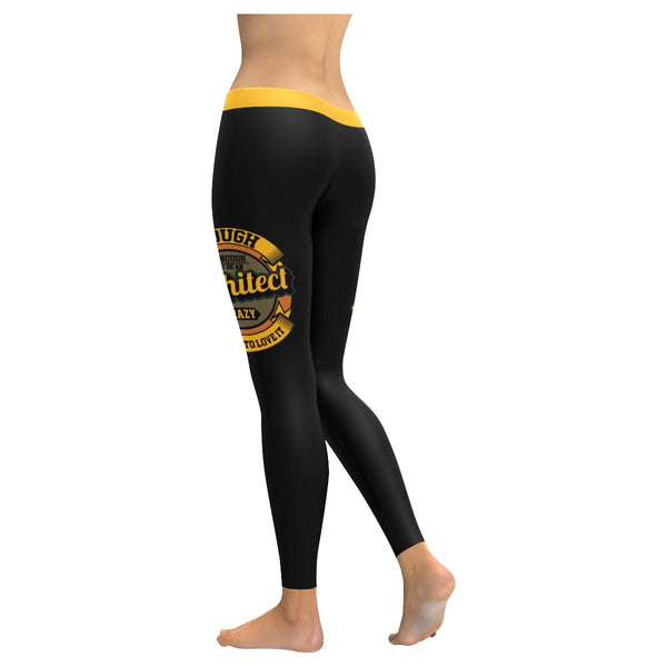 Tough Enough To Be An Architect Crazy Enough To Love It Funny Womens Leggings-NeatFind.net