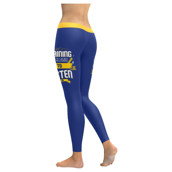 Training Tiny Humans To Listen To Me Funny Teacher Gift Ideas Womens Leggings-NeatFind.net