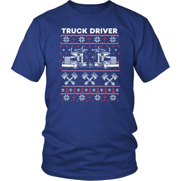 Truck Driver Ugly Christmas Practical Unique Funny Truckers Gifts Unisex T-Shirt-NeatFind.net