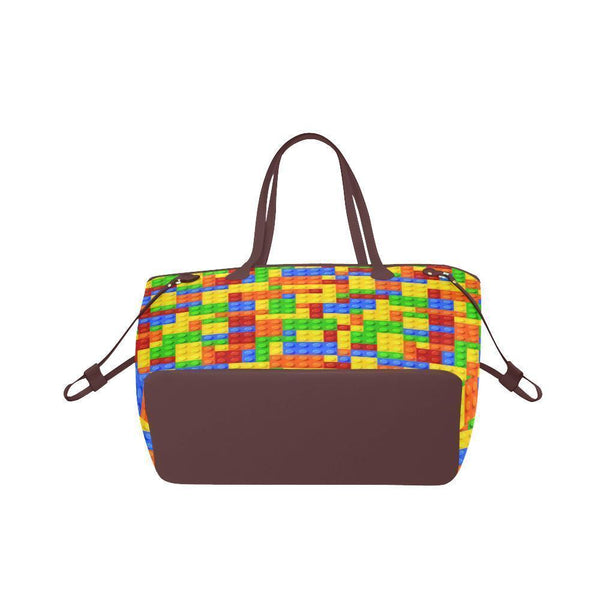 Water Resistant Canvas Building Block Tote Bags (4 colors)-NeatFind.net