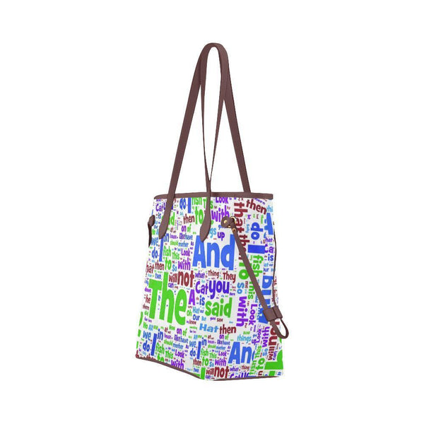 Water Resistant Canvas English Tote Bags (4 colors)-NeatFind.net