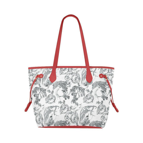 Water Resistant Canvas Horse Draw Tote Bags (4 colors)-NeatFind.net