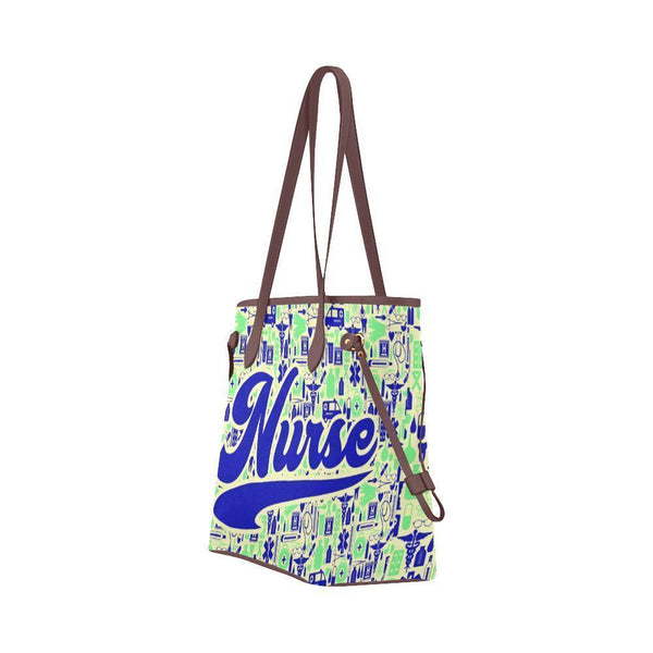 Water Resistant Canvas Nurse Life Saver Pattern Tote Bags (4 colors)-NeatFind.net