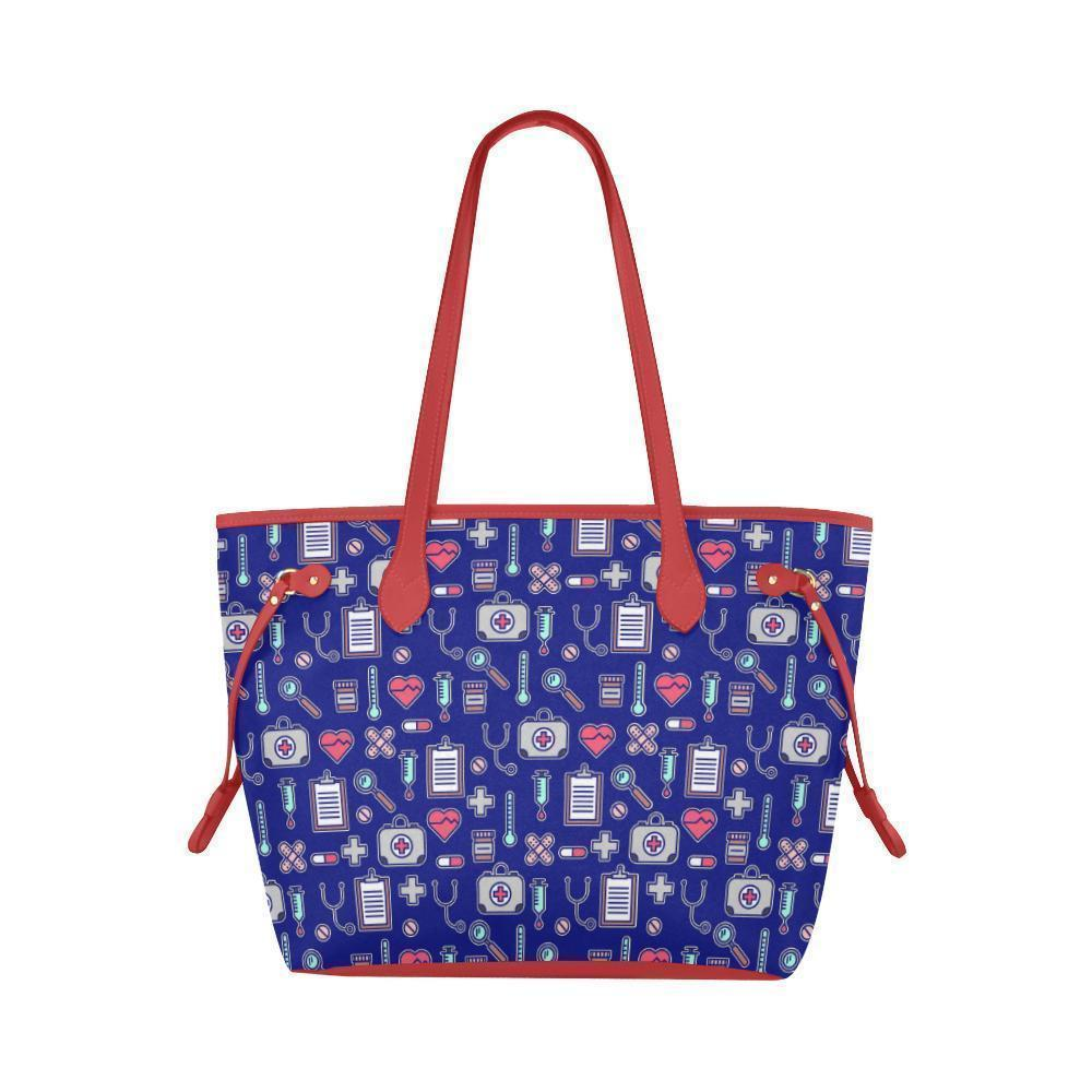 Water Resistant Canvas Nurse Love Print Tote Bags (4 colors)-NeatFind.net