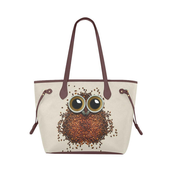 Water Resistant Canvas Owl Coffee Bean Tote Bags (4 colors)-NeatFind.net