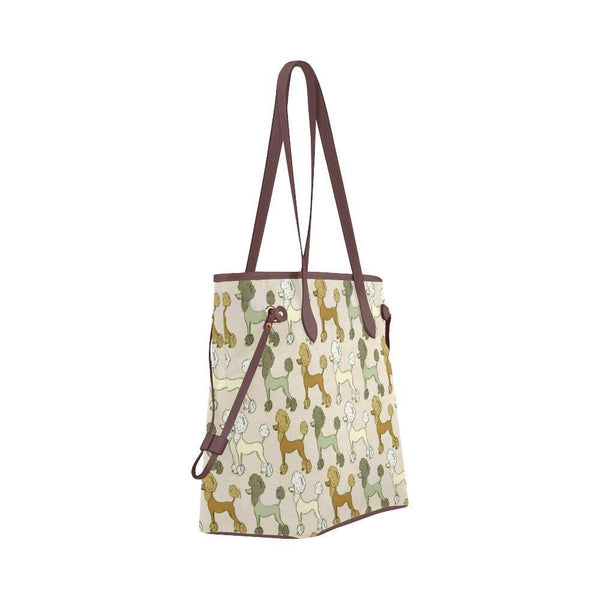 Water Resistant Canvas Poodle Tote Bags (4 colors)-NeatFind.net