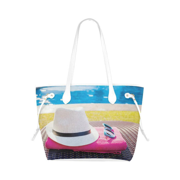 Water Resistant Canvas Swim Pool Tote Bags (4 colors)-NeatFind.net