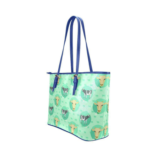Water Resistant Small Leather Cow Tote Bags (5 colors)-NeatFind.net