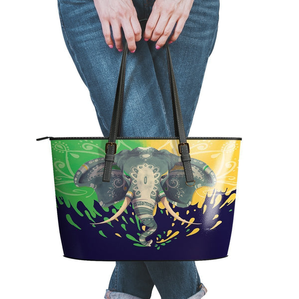 Water Resistant Small Leather Elephant Tote Bags (5 colors)-NeatFind.net