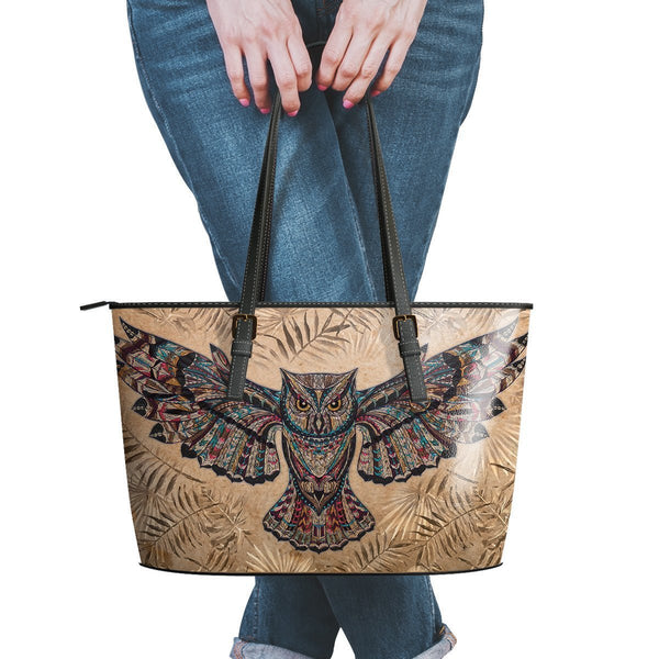 Water Resistant Small Leather Fly Owl Tote Bags (5 colors)-NeatFind.net