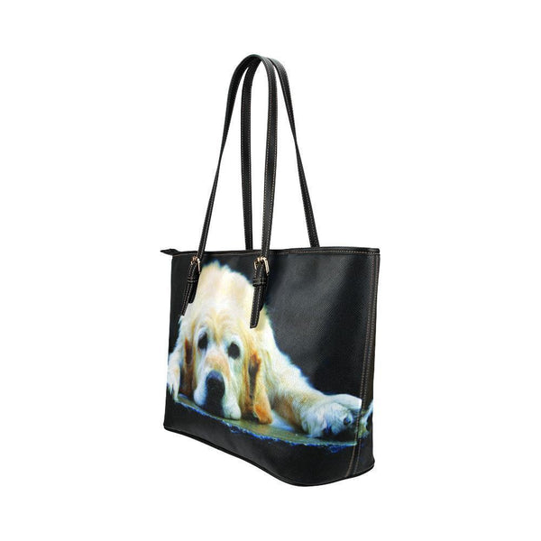 Water Resistant Small Leather Golden Retriever Tote Bags (5 colors)-NeatFind.net