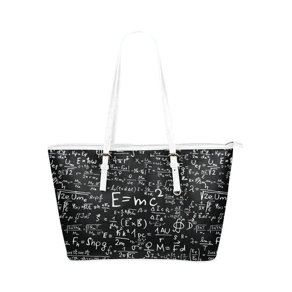 Water Resistant Small Leather Math Tote Bags (5 colors)-NeatFind.net