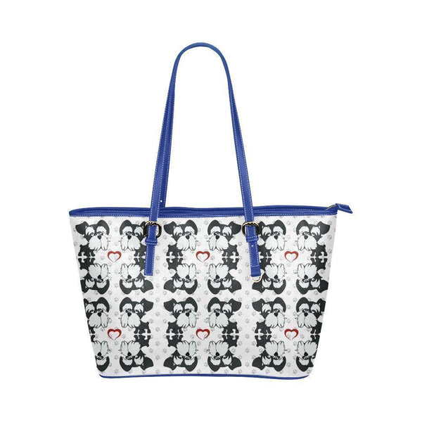 Water Resistant Small Leather Miniature Schnauzer Tote Bags (5 colors)-NeatFind.net