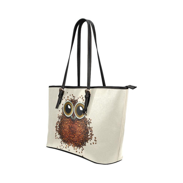 Water Resistant Small Leather Owl Coffee Bean Tote Bags (5 colors)-NeatFind.net
