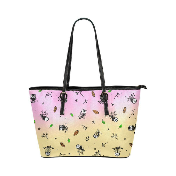 Water Resistant Small Leather Owl Pattern Tote Bags (5 colors)-NeatFind.net