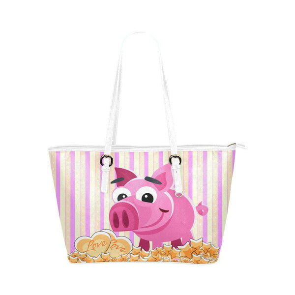 Water Resistant Small Leather Pig Tote Bags (5 colors)-NeatFind.net