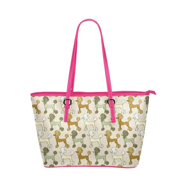 Water Resistant Small Leather Poodle Tote Bags (5 colors)-NeatFind.net