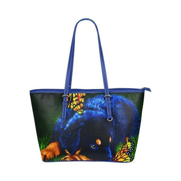 Water Resistant Small Leather Rottweiler Tote Bags (5 colors)-NeatFind.net