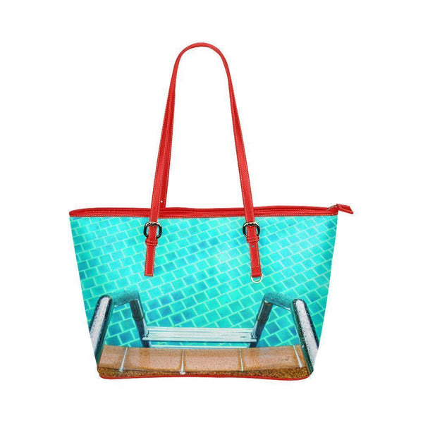 Water Resistant Small Leather Swim Pool Tote Bags (5 colors)-NeatFind.net