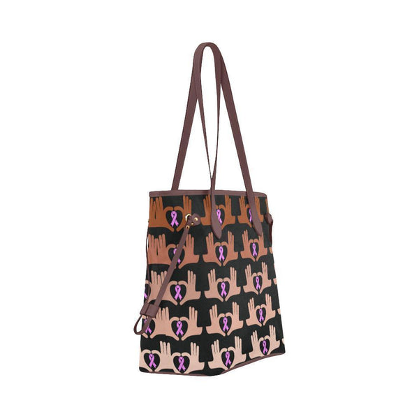 We Support Breast Cancer Water Resistant Canvas Tote Bags (4 colors)-NeatFind.net