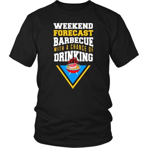 Weekend Forecast Barbeque With A Chance Of Drinking Funny BBQ Gift Ideas TShirt-NeatFind.net