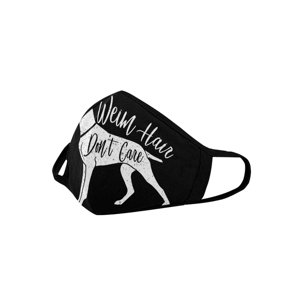 Weim Hair Don't Care Weimaraner Washable Reusable Cloth Face Mask With Filter-Face Mask-NeatFind.net