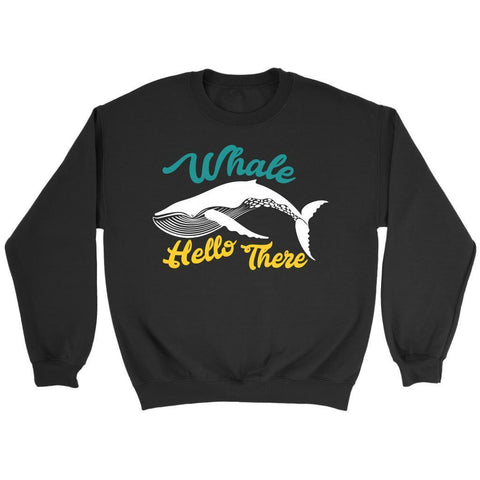 Whale Hello There Oceanography Funny Marine Science Biologist Gift Ideas Sweater-NeatFind.net