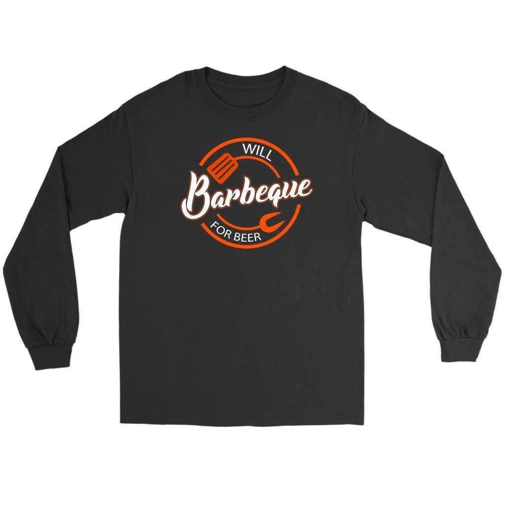 Will Barbeque For Beer Awesome BBQ Cool Funny Gift Soft Comfy Long Sleeve TShirt-NeatFind.net
