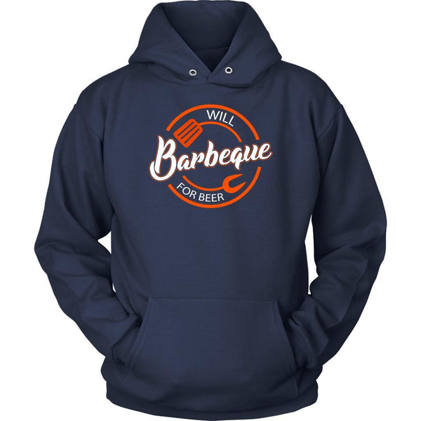 Will Barbeque For Beer Awesome BBQ Cool Funny Gift Soft Comfy Unisex Hoodie-NeatFind.net
