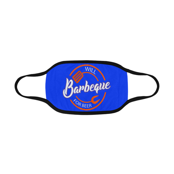 Will BBQ For Beer Sign Funny Washable Reusable Cloth Face Mask With Filter-NeatFind.net