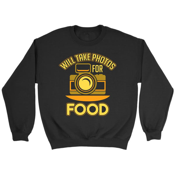 Will Take Photos For Food Cool Photography Funny Photographer Gifts Idea Sweater-NeatFind.net