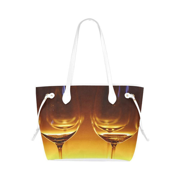 Wine Glasses #5 Water Resistant Canvas Tote Bags (4 colors)-NeatFind.net