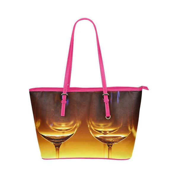 Wine Glasses #5 Water Resistant Leather Tote Bags (5 colors)-NeatFind.net