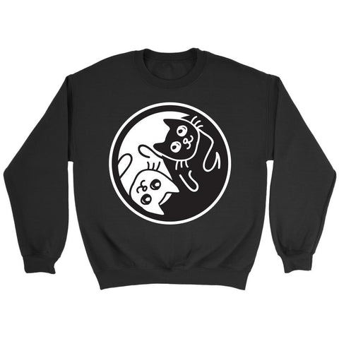 Yin Yang Cats Awesome Cute Funny Lovers Kitty Obsessed Friend Gift Ideas Sweater-NeatFind.net