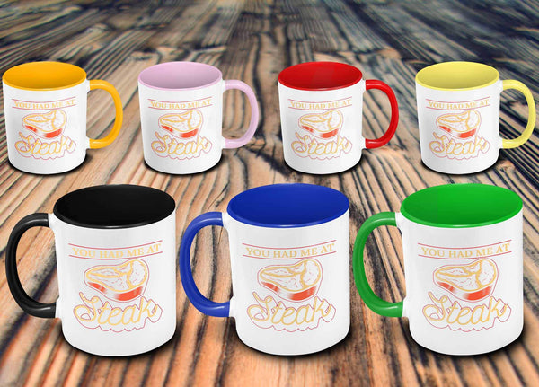 You Had Me At Steak Awesome BBQ Cool Funny Gifts 7Color 11oz Coffee Mug-NeatFind.net
