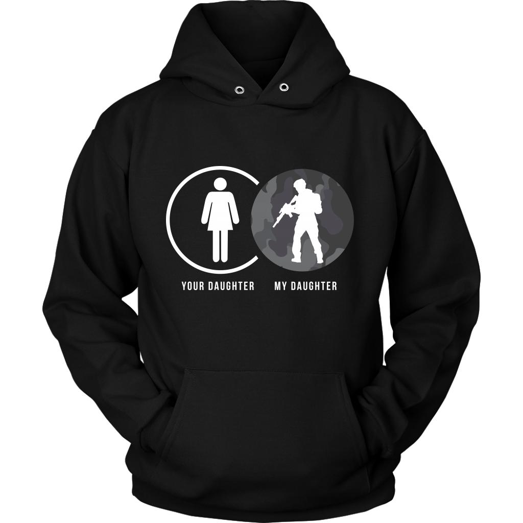 Your Daughter My Military Daughter Cool Funny Awesome Unique Patriotic USA Military Women Unisex Hoodie for Women-NeatFind.net